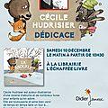 Samedi 10 décembre, dédicaces à saint sulpice