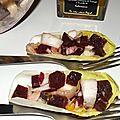 Salade d'endive et de betterave rouge