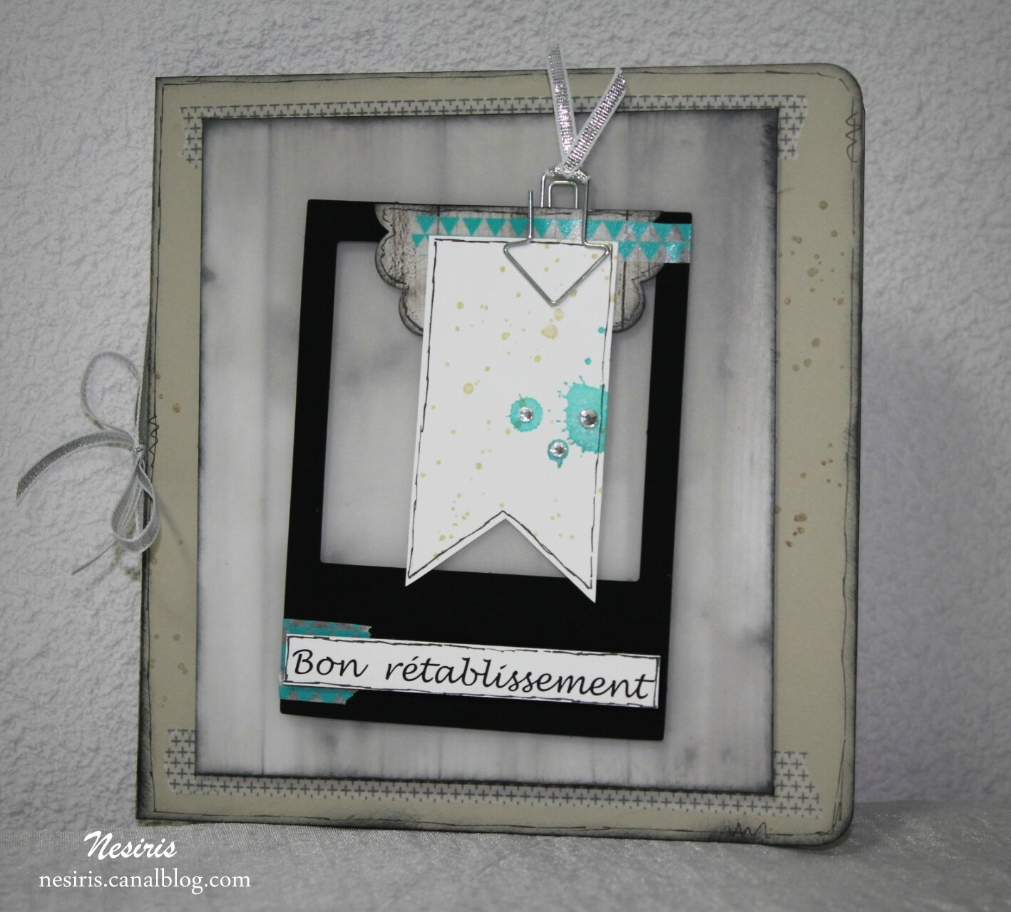 Carte façon album - Bon rétablissement - nesiris - stampin'up2
