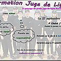 Formation juge de ligne (jdl) - cholet - 21/09/2019