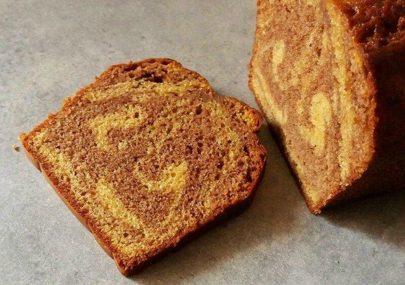 Cake marbré Nutella praliné