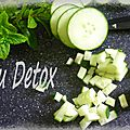 Eau detox concombre-menthe