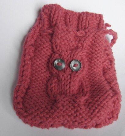 Pochette tricot owl