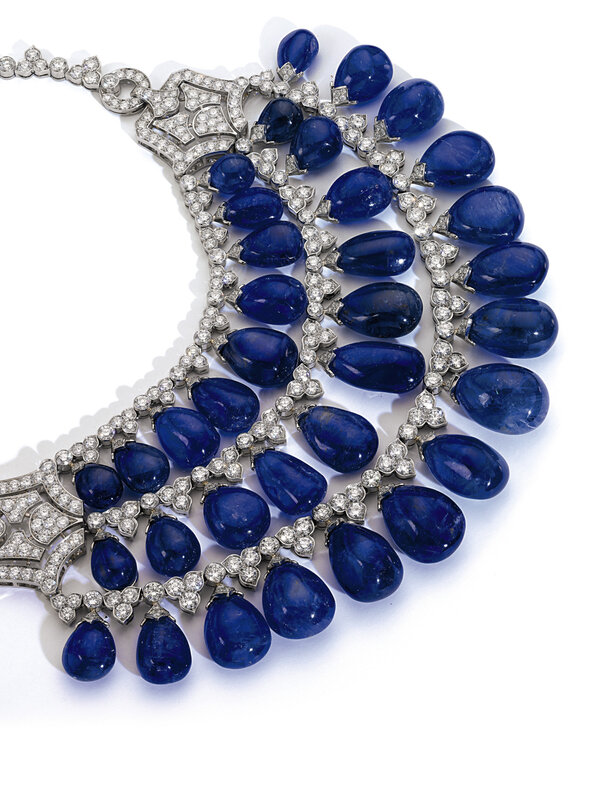 Sapphire and diamond necklace, Bulgari - Magnificent Jewels and Noble Jewels Sotheby's Geneva 13 nov 2019