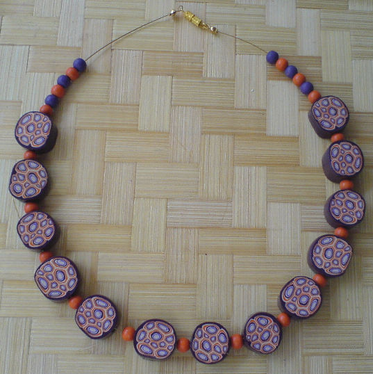 collier prune orange