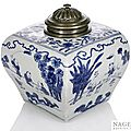 A silvered-bronze mounted blue and white playing boys jar, China, underglaze blue Jiajing six-character mark and period