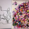 Collage : licorne en bouton