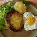 Galettes de pommes de terre pour 2