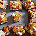 Tartines apéritives (ou comment improviser un apéro vite fait )