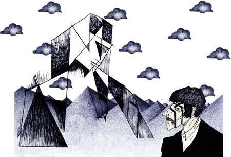 choix nuages dessin homme et grande femme noire