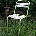 Chaises bistrot bois/métal