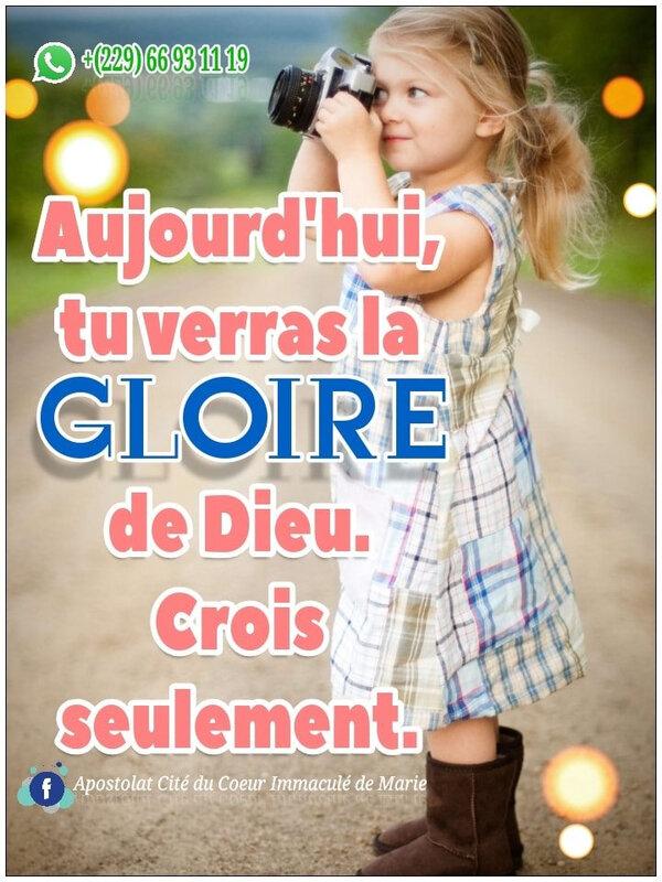 Si tu crois, tu verras la Gloire de Dieu (Jean 11:40) #Amen