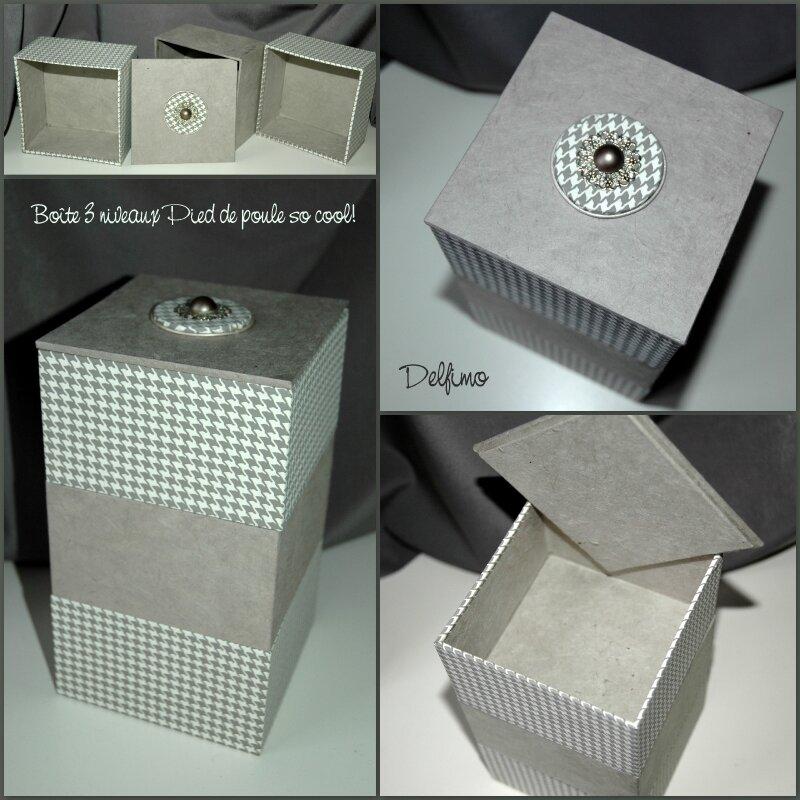 Boîte à bijoux pied de poule so cool