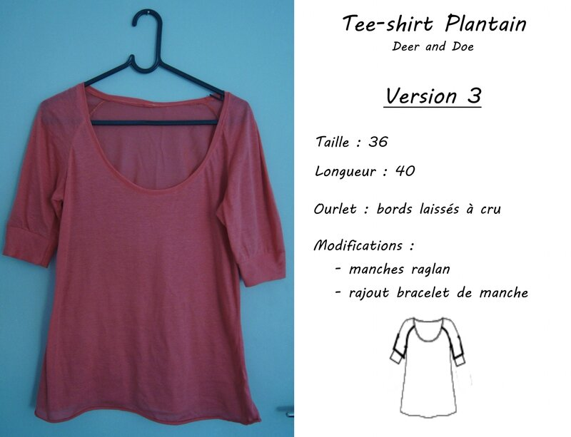 Plantain 3 - modif manches raglan