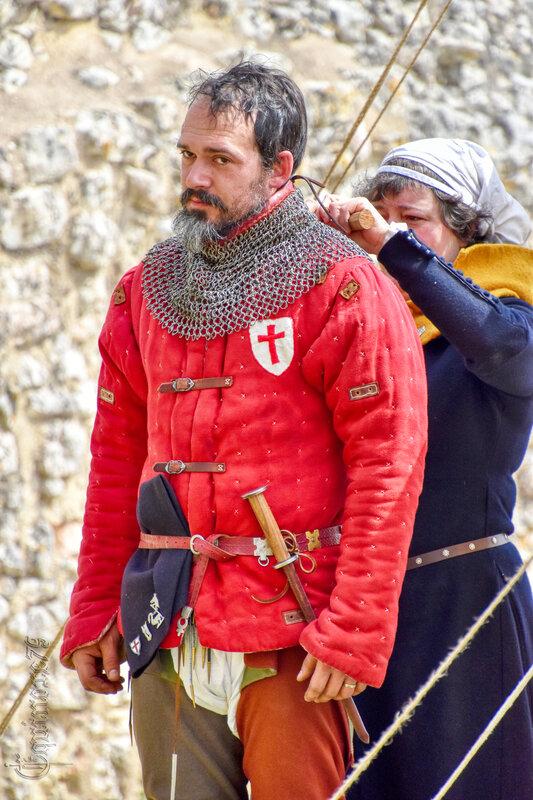 Guerre de cent ans dans le Poitou, château d'Angle sur l'Anglin (3)