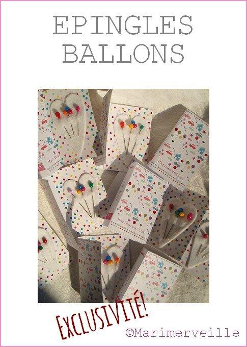 Epingles Ballons - Marimerveille