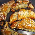 Croissants apéritifs tapenade& jambon cru