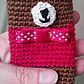 Pochette pour clés ourson au crochet...