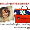 Cartable primaire crapule factory : original et coloré pour fille et garçon ! une rentrée pop, vintage colorée !