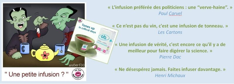 infusion humour citation parodie tisane vampire tampon hygienique