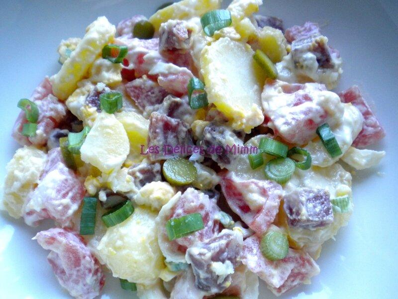Salade de pommes de terre au saucisson 2