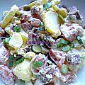 Salade de pommes de terre au saucisson
