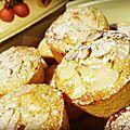 Muffins ou petits moelleux au citron et aux amandes