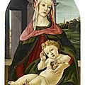 Audap & mirabaud to offer a madonna of the pomegranate painted on panel by sandro botticelli