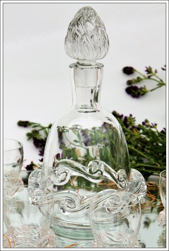 Service à porto en cristal de Baccarat Rossini