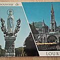 Lourdes - Vierge couronnée datée 1970