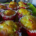 Muffin de courgette et mousse de st moret... sans gluten