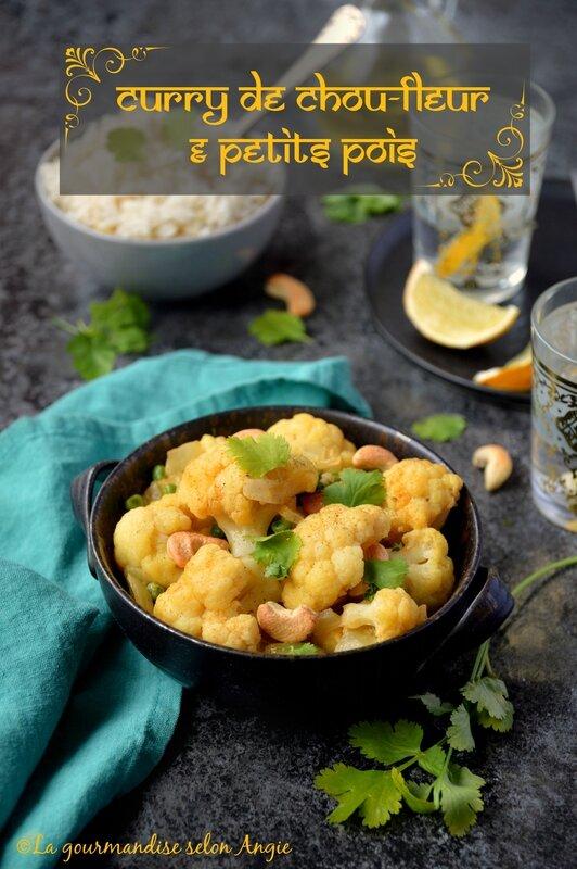 curry chou fleur petits pois vegan 1
