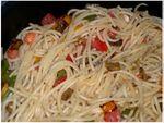 Spaghettis légumes mozza basilic (2)