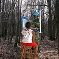 Effer lecebe artist peacekeeper / plasticien casque bleu travaille pour la cpi