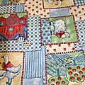 coton enfant bleu clair patchwork oie