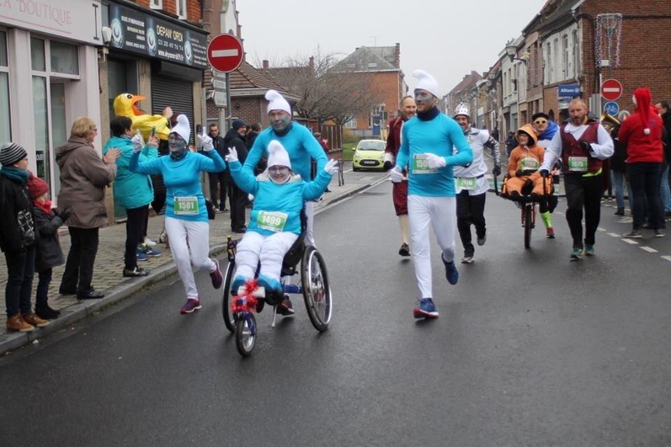 Pimpren'Ailes participe à la Course de Noël des Moulins de Steenvoorde