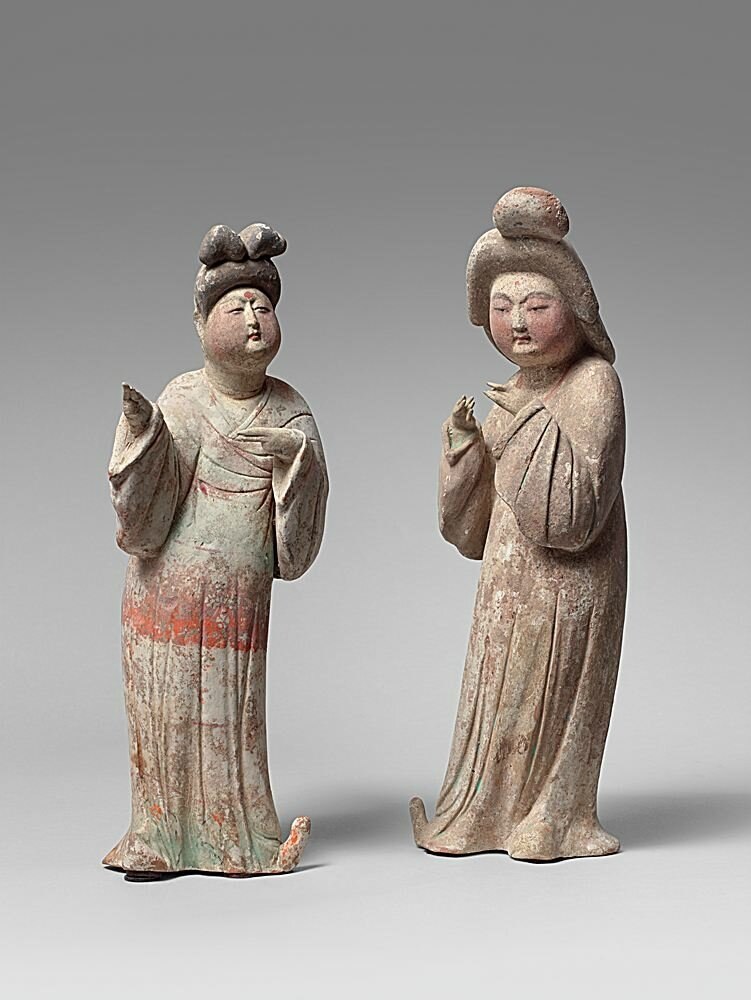 Fat court ladies, China, Tang Dynasty, 618-907 AD, 8th century