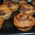 Muffins aux bananes marbrés au chocolat, sans gluten et sans lactose