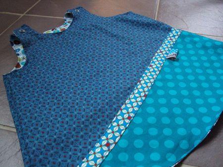 photo robe trapèze rouge et bleue 010