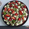 Fantastik fraise - pistache et feuilles de basilic