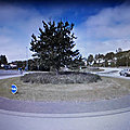 Rond-point à hafnarfjordur (islande)