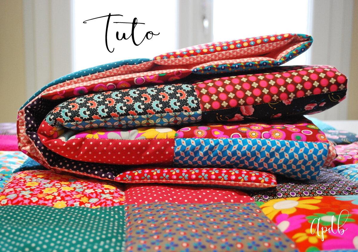 MES couvertures patchwork et le TUTO qui va avec ...
