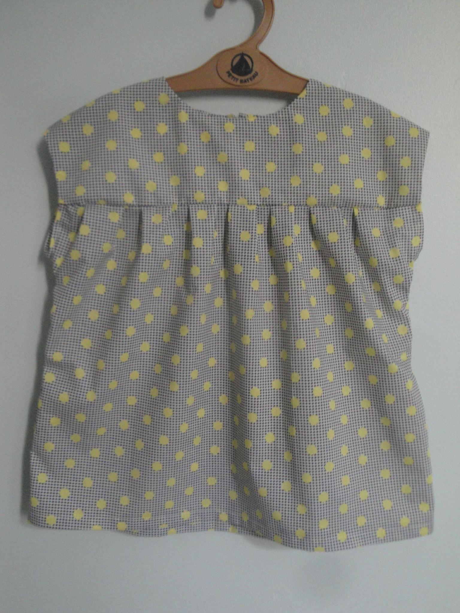 Daisy Alice polka pois jaune (9)