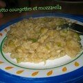 Risotta courgettes et mozzarella