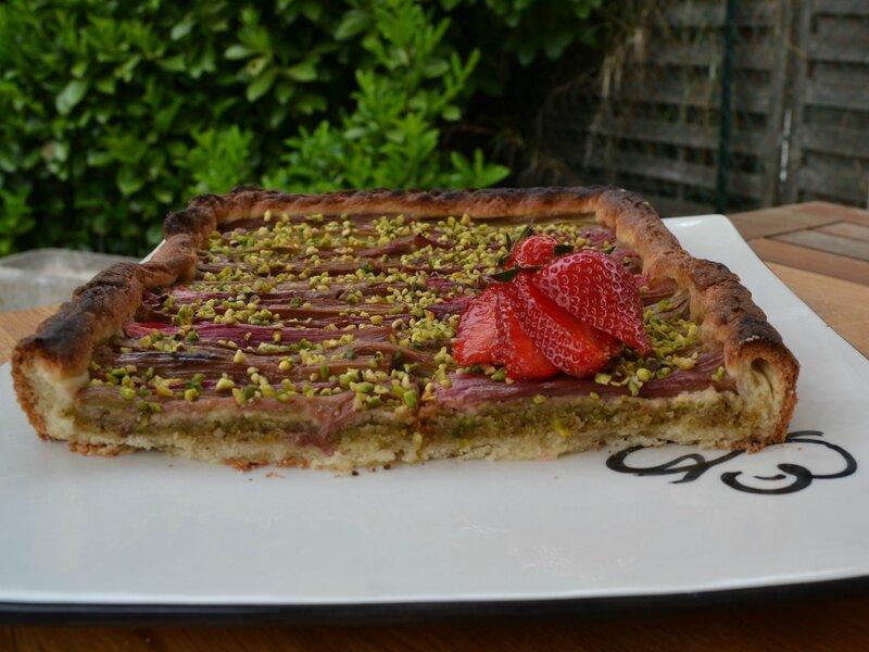 Tarte rhubarbe pistache2
