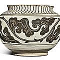 A painted 'cizhou' globular jar, song-yuan dynasty (960-1368)