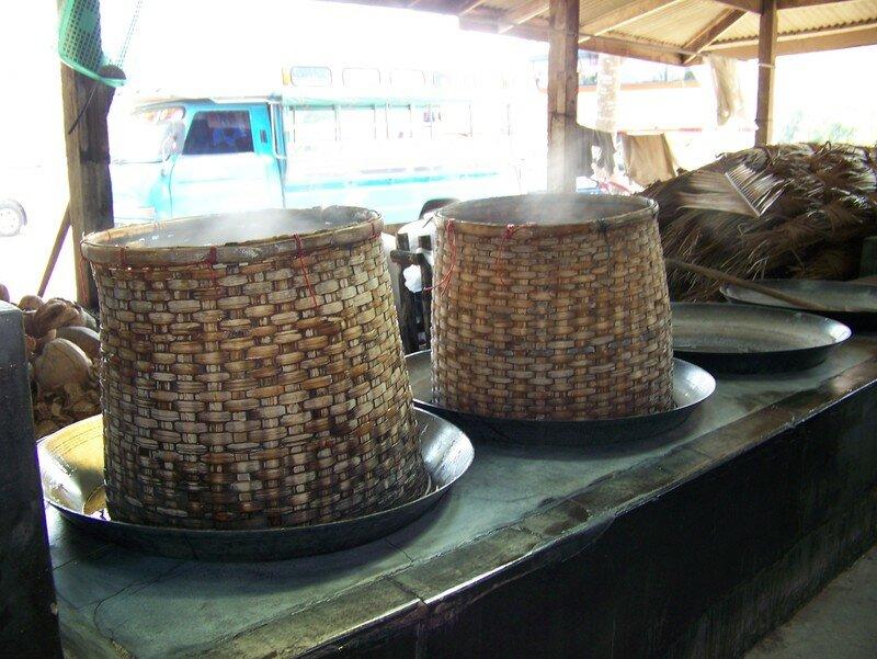 panier pour fabriquer huile de coco