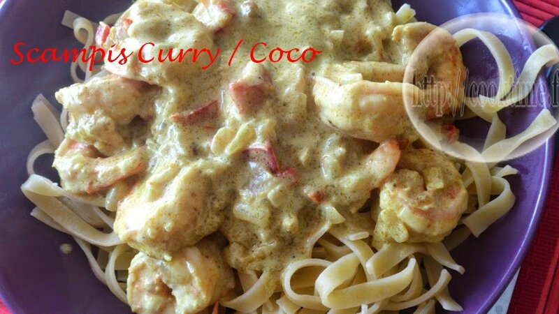 Scampis curry coco 1