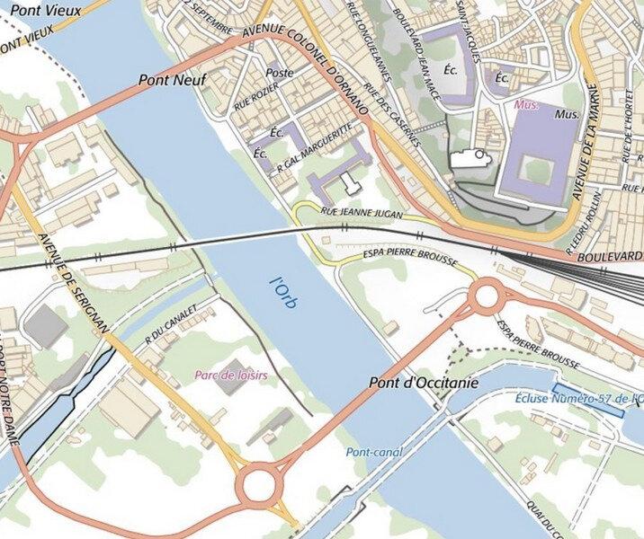Carte Pont Canal