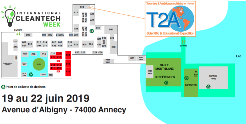 Plan stand T2A Clean Tech Week Annecy 2019 A21